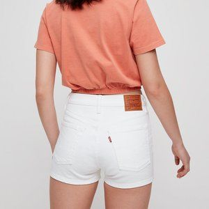 Levi's 501 High Rise White Denim Shorts Sz.26